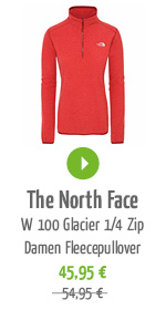 The North Face W 100 Glacier 1/4 Zip Damen Fleecepullover